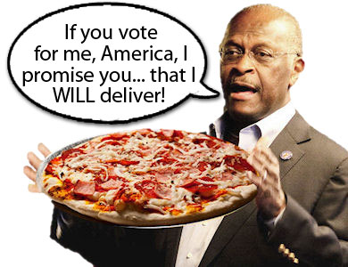 Herman Cain Pizza Deliver