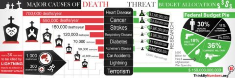 Anti-Terrorism Spending 50,000 Times More Than on Any Other Cause of Death